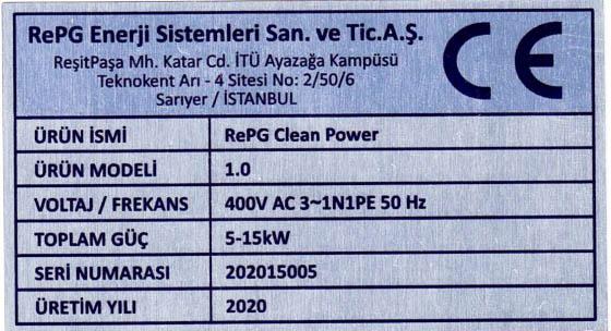 RePG CE Sertifika Bant