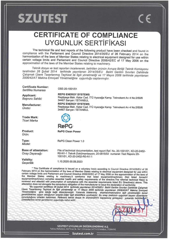 RePG CE Sertifikası